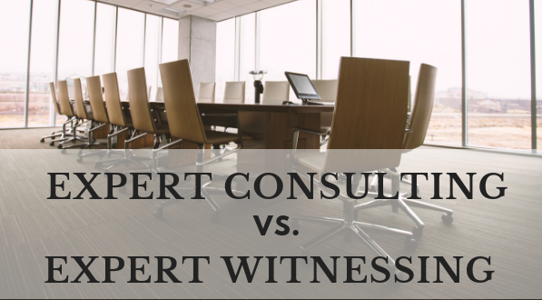 Expert consulting is different from expert witnesses.